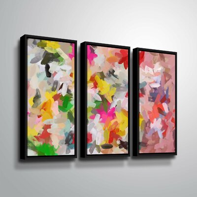 'Colorful Pallet IV' Rectangle Print Multi-Piece Image on Wrapped Canvas Format: Black Framed, Size: 24