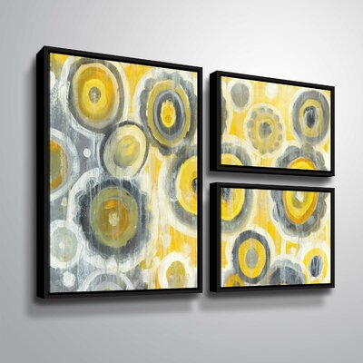 'Abstract Circles' Watercolor Painting Print Multi-Piece Image with Floater Frame Size: 24