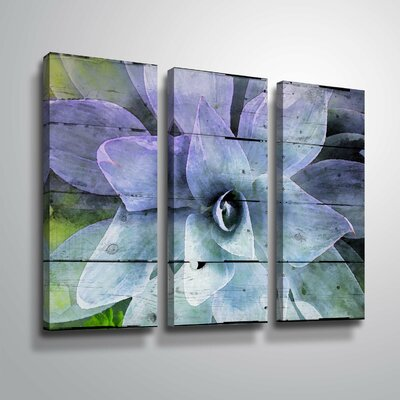 'Purple Perfection' Graphic Art Print Multi-Piece Image Format: Wrapped Canvas, Size: 24