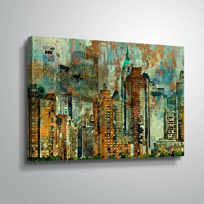'Colorful New York' Graphic Art Print Format: Wrapped Canvas, Size: 12
