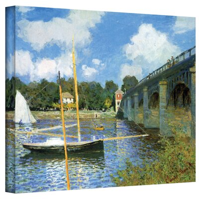 'The Bridge of Argenteuil' by Claude Monet Painting Print on Canvas Size: 14