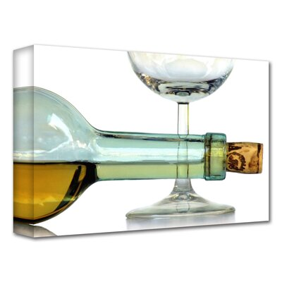 'Bottle Plus Glass' by Dan Holm Photographic Print on Canvas DH-07-12x18-w