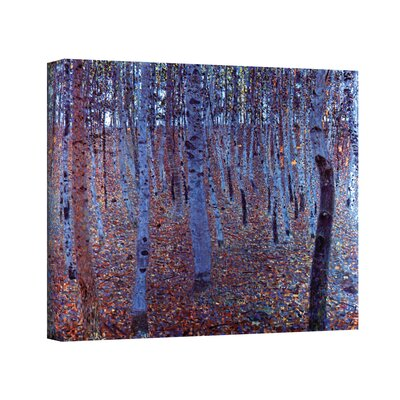 ''Beeche Forest'' by Gustav Klimt Painting Print on Canvas Size: 36