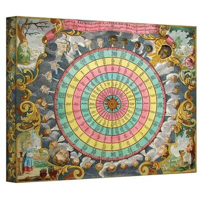 Antique ''Pyxis Nautica Compass Charte'' Graphic Art on Canvas 0dun003a0810w