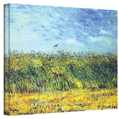 'Green Wheat Fields' by Vincent Van Gogh Painting Print on Canvas Size: 14