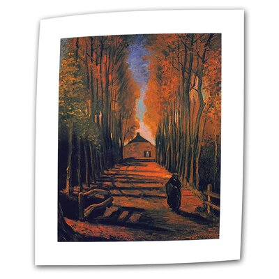 """Avenue of Poplars in Autumn by Vincent van Gogh Painting Print on Rolled Canvas Size: 14"""" H x 18"""" W VanGogh46-14x18"""