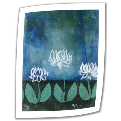 "Lotus Blossoms' by Elena Ray Painting Print on Rolled Canvas Size: 24"" H x 18"" W ERay-007-24x18"