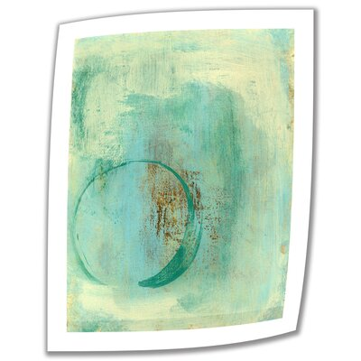 'Teal Enso' by Elena Ray Vintage Advertisement on Canvas Size: 18