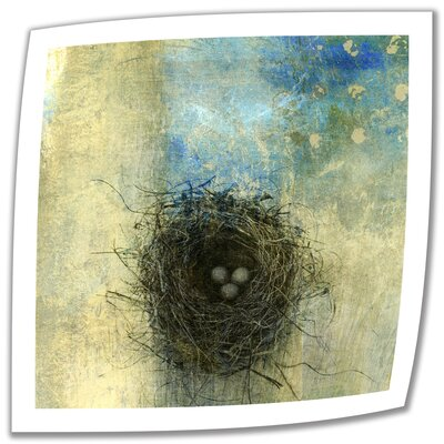 Bird Nest' by Elena Ray Vintage Advertisement on Rolled Canvas ERay-028-18x18