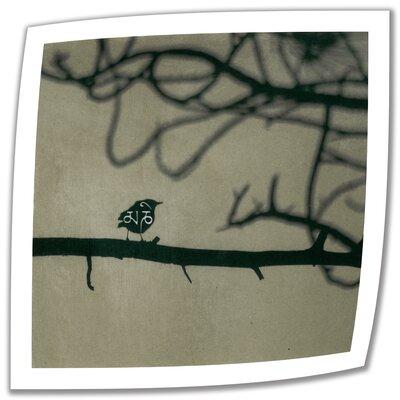 Yoga Bird 1' by Elena Ray Vintage Advertisement on Rolled Canvas ERay-045-14x14