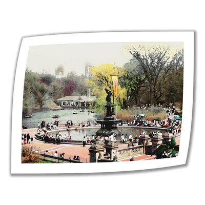 "Image of Bethesda Fountain' by Linda Parker Photographic Print on Rolled Canvas Size: 18"" H x 22"" W"
