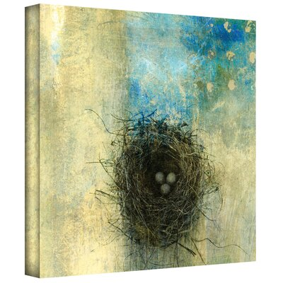 'Bird Nest' Mixed Media Print by Elena Ray Graphic Art on Wrapped Canvas 0ray028a1010w
