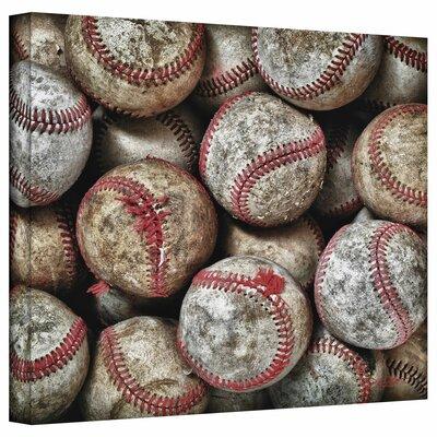 Baseballs' by Antonio Raggio Photographic Print on Wrapped Canvas Size: 14