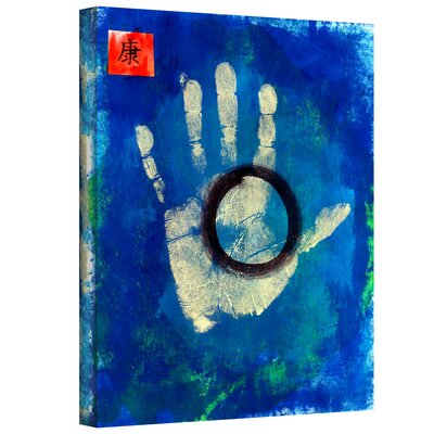 'Health Hand Print' by Elena Ray Painting Print on Wrapped Canvas 0ray005a0810w