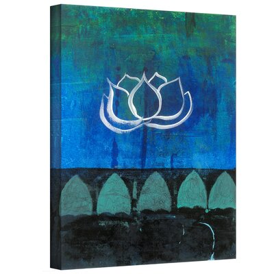 "'Lotus Blossom' by Elena Ray Painting Print on Wrapped Canvas Size: 48"" H x 36"" W ERay-006-48x36-w"