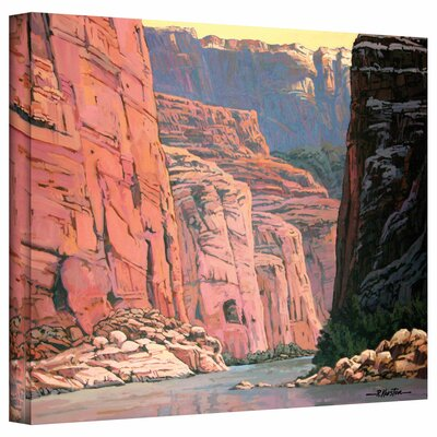 'Colorado River Walls' by Rick Kersten Print of Painting on Wrapped Canvas Size: 24