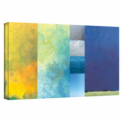 'Textured Earth Panel' Painting Print on Wrapped Canvas Size: 12