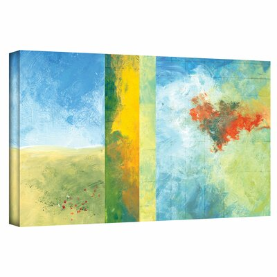 "'Textured Earth Panel IV' by Jan Weiss Painting Print on Wrapped Canvas Size: 12"" H x 24"" W janw-052-12x24-w"