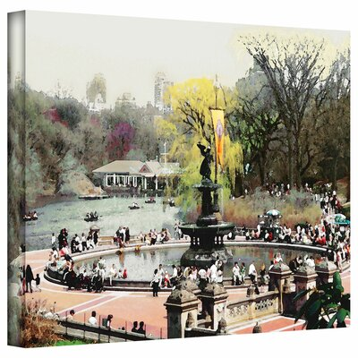 "Image of 'Bethesda Fountain' by Linda Parker Photographic Print on Canvas Size: 14"" H x 18"" W"