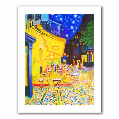 Caf� Terrace by Vincent Van Gogh' by Susi Franco Painting Print on Rolled Canvas sfranco-077-18x14