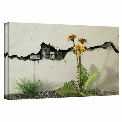 'Between the Cracks' Gallery by Cynthia Decker Painting Print on Wrapped Canvas Size: 26