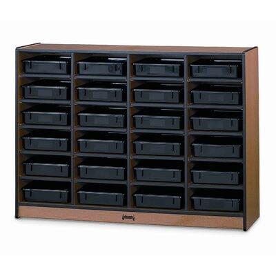 Jonti-Craft Rainbow Accents? Mobile Storage Unit - Bin: With Bin, Color: Red