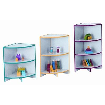 Jonti-Craft Kydzcurves Corner Storage Unit Cubbie - Trim Color: Green, Size: 35