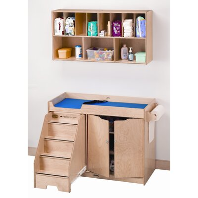Right Changing Table with Stairs Combo 5143JC