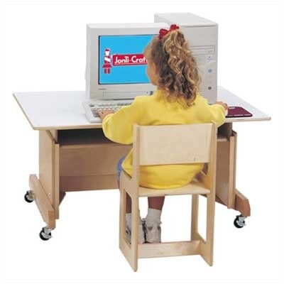 "Jonti-Craft 42"" W White Computer Table at Sears.com"