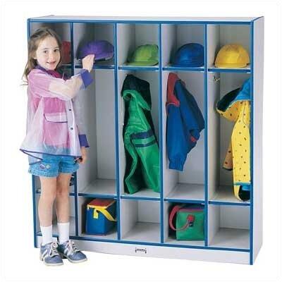 Rainbow 1 Tier 5-Sections Coat Locker Accents: Purple