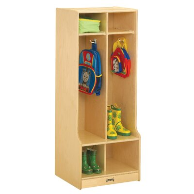 Jonti-Craft 1 Tier 2-Sections Locker 4682JC