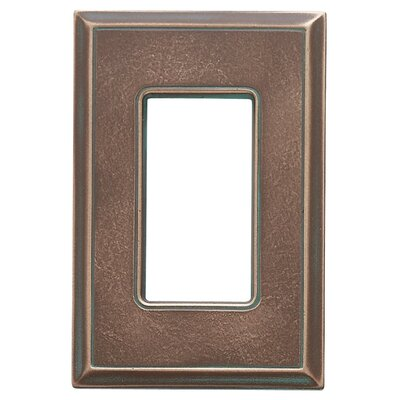 Classic Magnetic Single GFCI Wall Plate Finish: Antique Bronze Verdigris
