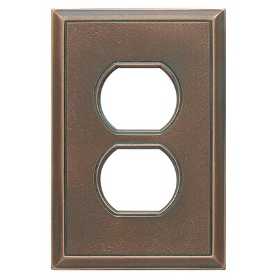 Classic Magnetic Single Duplex Wall Plate Finish: Antique Bronze Verdigris