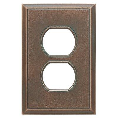 Classic Magnetic Single Duplex Wall Plate Finish: Antique Bronze Verdigris