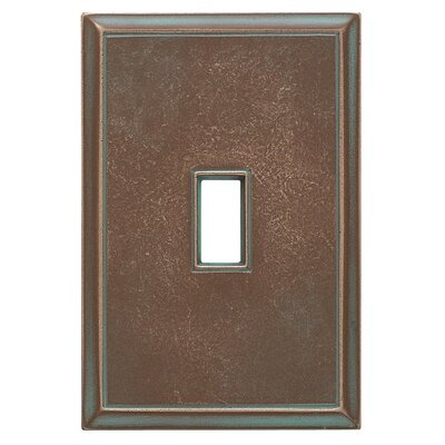 Classic Magnetic Single Toggle Wall Plate Finish: Antique Bronze Verdigris