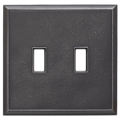 Classic Magnetic Double Toggle Wall Plate Finish: Wrought Iron
