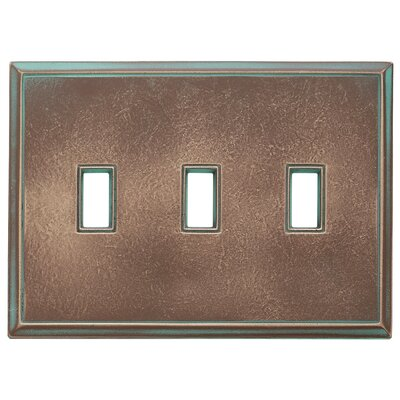 Classic Magnetic Triple Toggle Wall Plate Finish: Antique Bronze Verdigris