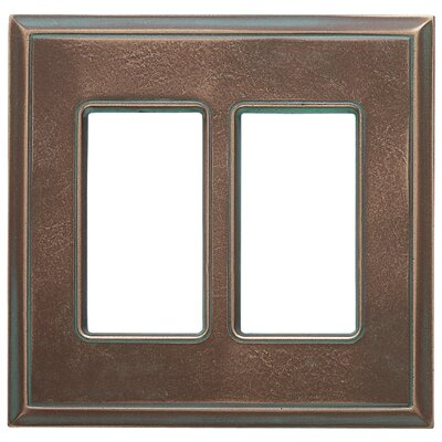 Classic Magnetic Double GFCI Wall Plate Finish: Antique Bronze Verdigris