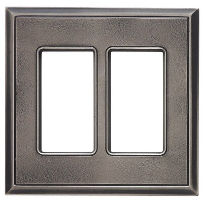 Classic Magnetic Double GFCI Wall Plate Finish: Timeworn Steel