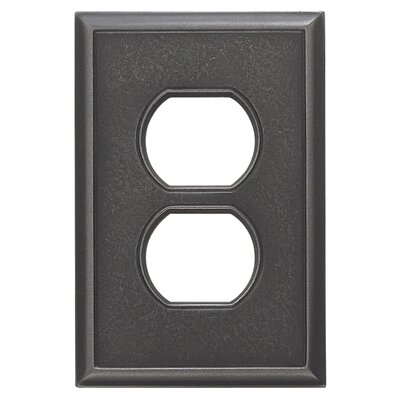 Classic Magnetic Single Duplex Wall Plate Finish: Wrought Iron