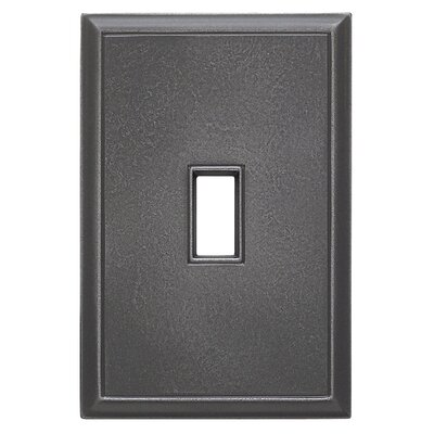 Classic Magnetic Single Toggle Wall Plate Finish: Wrought Iron