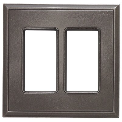 Classic Magnetic Double GFCI Wall Plate Finish: Classic Nickel Silver