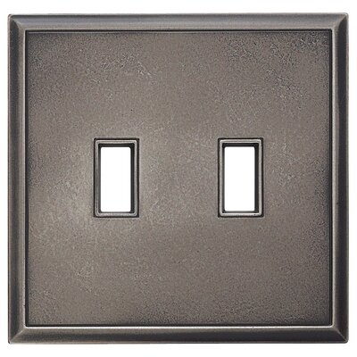 Classic Magnetic Double Toggle Wall Plate Finish: Timeworn Steel