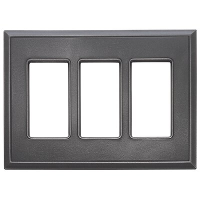 Classic Magnetic Triple GFCI Wall Plate Finish: Wrought Iron
