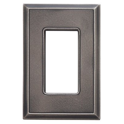 Classic Magnetic Single GFCI Wall Plate Finish: Timeworn Steel