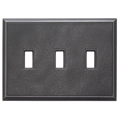 Classic Magnetic Triple Toggle Wall Plate Finish: Wrought Iron