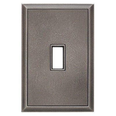Classic Magnetic Single Toggle Wall Plate Finish: Timeworn Steel