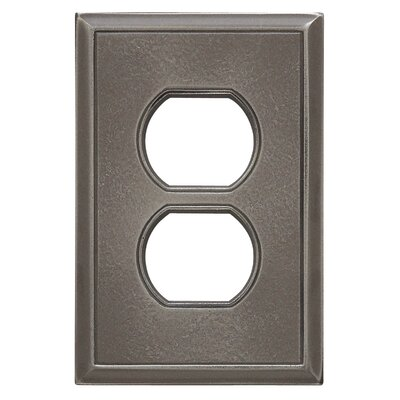 Classic Magnetic Single Duplex Wall Plate Finish: Classic Nickel Silver