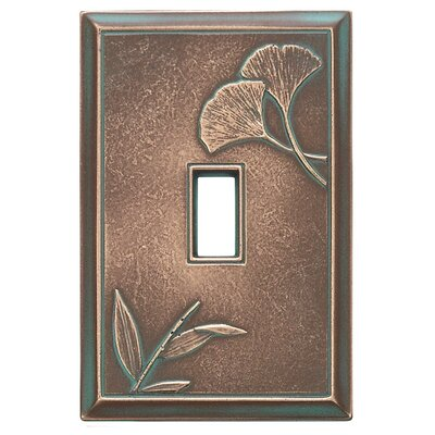 Deco Ginkgo Magnetic Single Toggle Wall Plate