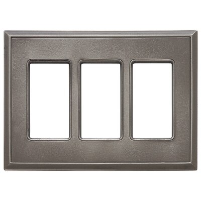 Classic Magnetic Triple GFCI Wall Plate Finish: Classic Nickel Silver